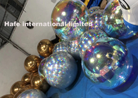 2.6ft Gold Chrome Inflatable Mirror Balloon For Events Fairs Clubs Rooms