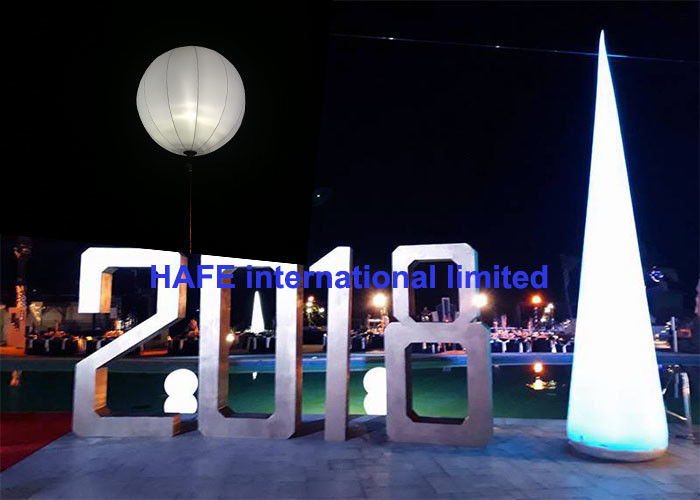 Dual Color White 800W Led Light Up Balloons Warm White Cold White 2 In 1